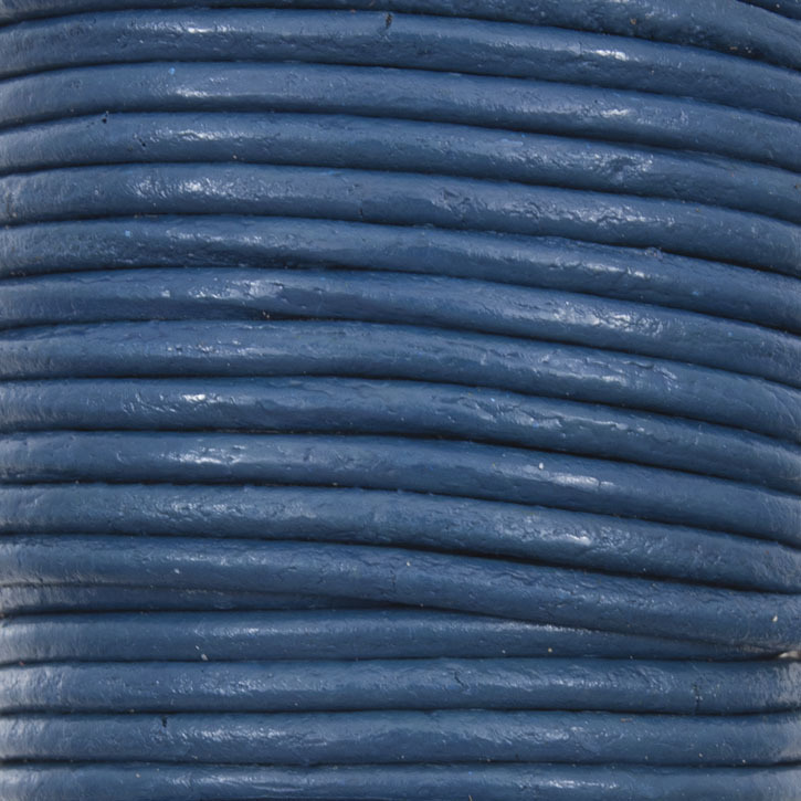 Leather Cord 2mm Yale Blue 10m Roll India - *1602-0412-99 - Club Bead