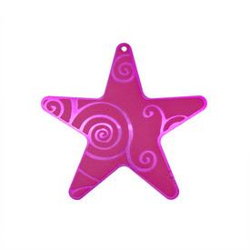 *1413-1102-11 - Pendentif Aluminium Étoile 45MM Fuchsia 5pcs *1413-1102-11,Pendentif,Aluminum,45MM,Étoile,Étoile,Rose,Fuchsia,Chine,5pcs,montreal, quebec, canada, beads, wholesale