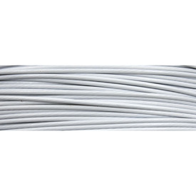 1603-0301-05 - Tiger Tail Wire 1mm White 100m Roll 1603-0301-05,Findings,Necklaces,Tigertail chockers,Tiger Tail,Wire,1mm,White,100m  Roll,China,montreal, quebec, canada, beads, wholesale
