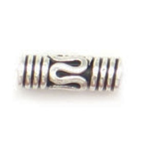 *1753-1829 - Bille Argent de Bali Tube de Fantaisie 3X10MM 15pcs Indes *1753-1829,Argent de Bali,Billes,Bille,Métal,Argent de Bali,3X10MM,Cylindre,Tube,Fantaisie,Indes,15pcs,montreal, quebec, canada, beads, wholesale